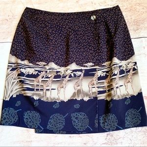 🐅Vintage Cheetah Print Animal Wildlife Skirt